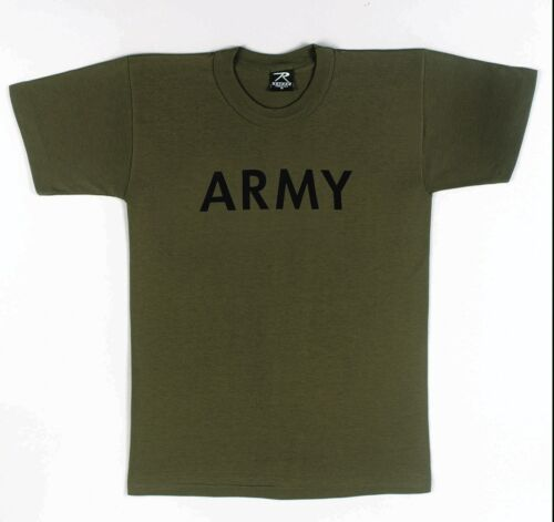 Olive Drab by Rothco SIZES XS TO XL BOYS Kids T-Shirt Army
