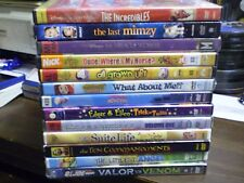 (13) Childrens Adventure DVD Lot: Disney The Incredibles Last Mimzy Transformers