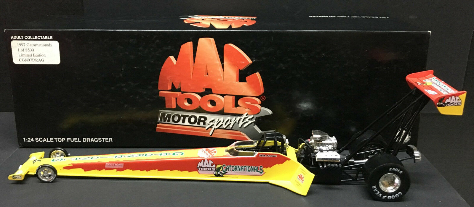 [66000] 1997 GATORNATIONALS DRAGSTER - MAC TOOLS MOTOR SPORTS - 1 of 8,500