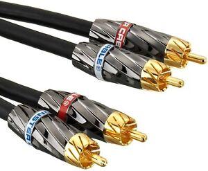 Monster-Cable-de-interconexion-de-Audio-estereo-RCA-a-RCA-3m-Ultra-Alto-Rendimiento