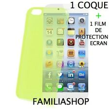 Housse étui pochette coque vert iphone 6 4.7 + 1 film de protection écran