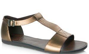 dd71118229bf6d NEW Vagabond Minho Boho Bronze Leather T-Strap Sandals Size 40 ...
