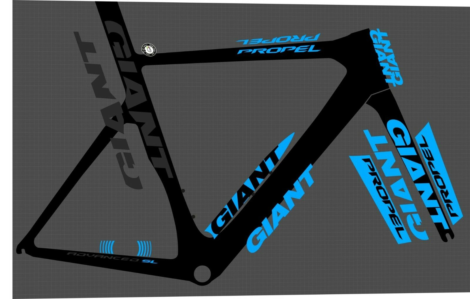 GIANT Propel SL Limited 2014 Pegatina Advanced DECAL set