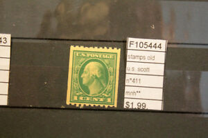 STAMPS-OLD-U-S-SCOTT-N-411-MNH-F105444