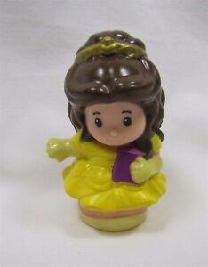 Fisher Price Little People Disney PRINCESS BELLE in yellow CASTLE Kingdom