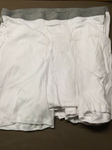 46-48 Lot Of 6 New Men's Stafford White W//Grey Waistband Boxer Briefs Size 2XL