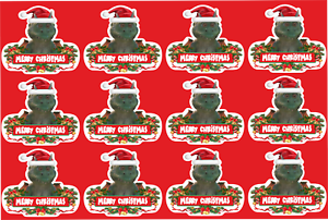 Edgar the Dragon John Lewis Christmas advert 2019 TOP QUALITY Funny Sticker