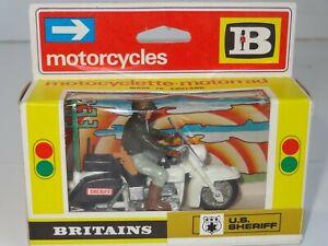 Britains Us Sheriff Harley Davidson Moto - 9692 Mint Ex Shop Stock