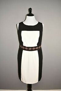 LUX-II-98-Color-Block-Sleeveless-Embroidered-Shift-Dress-Size-20W