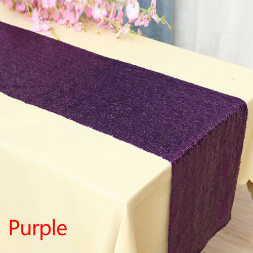 """12/""""x72/"""" Glitter Sequin Flag Table Runner Wedding Party Tablecloth Table Supplies"""