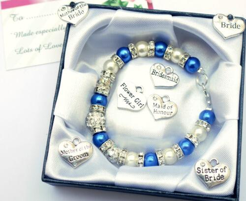 Armband Personsalisiert Brautjungfer Braut Hochzeit Blumenmädchen Geburtstag