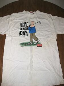 32009e5ec DILBERT lrg Mental Health Day tee computer T shirt comic strip SCOTT ...