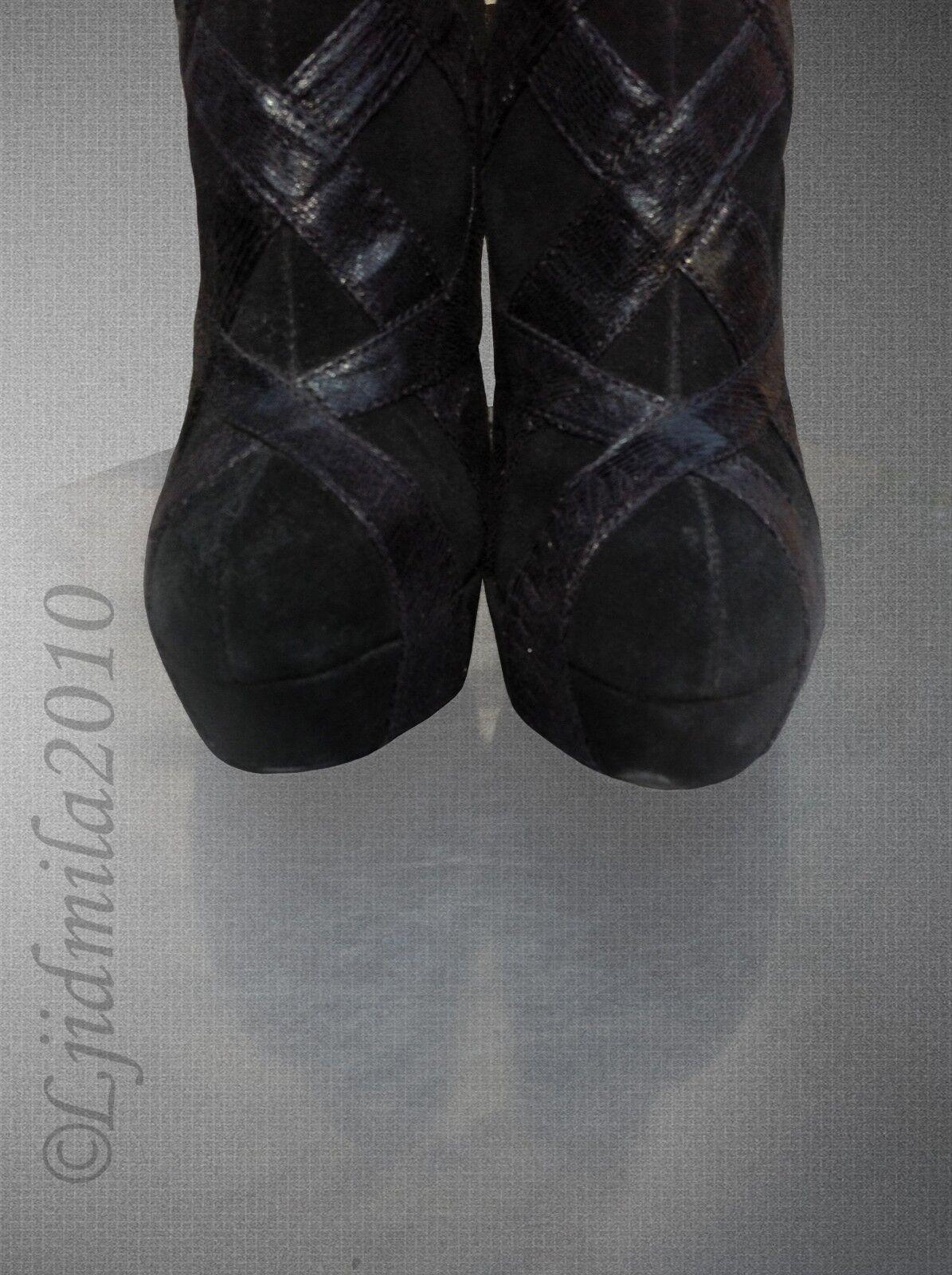 128 Victoria's Victoria's Victoria's Secret C.Stuart Suede Lizard Platform Ankle Stiefelie Heels 8,5 US 0a3c6f