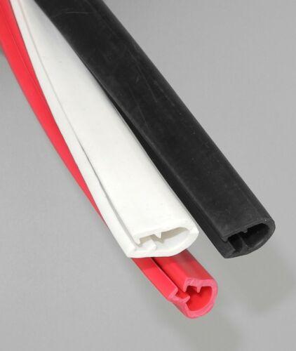 KL-TPE 7-10 Kantenschutz Kantenschutzprofil schwarz rot Keder Band Klemm Profil