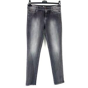 Marc-Cain-Damen-Jeans-Hose-Gr-N2-36-S-Grau-Comfort-Straight-Mid-Rise-Np-179-Neu