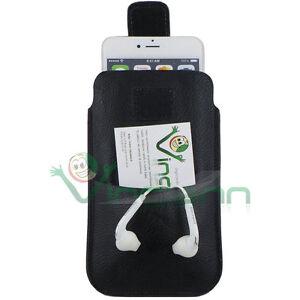 Custodia-sacchetto-Nero-passante-cintura-per-LG-Google-Nexus-4-E960-CS44