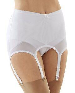 78d0e983b22 Cortland Shapewear 6 Strap White Garter Belt Open Girdle Size 34 2XL ...