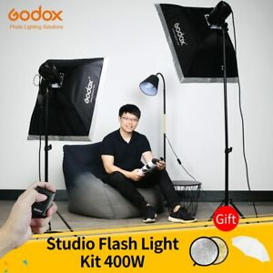 Godox-400Ws-Studio-Flash-Kit-2x-200W-Strobes-with-Light-Stands-Triggers-SoftBox