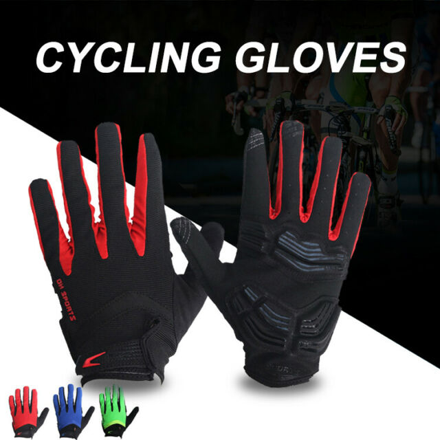 Touch Screen Cycling Gloves MTB Bike Bicycle Thickened Gel Pad Glove Full Finger