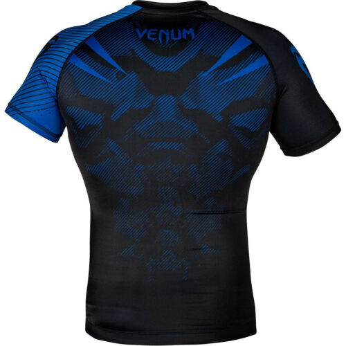 Black//Blue Venum No-Gi 2.0 Short Sleeve MMA Compression Rashguard