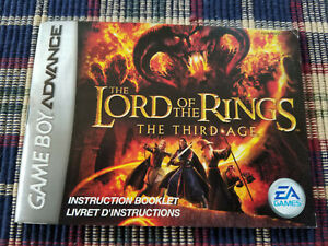 The-Lord-of-the-Rings-The-Third-Age-Authentic-Game-Boy-Advance-Manual-Only