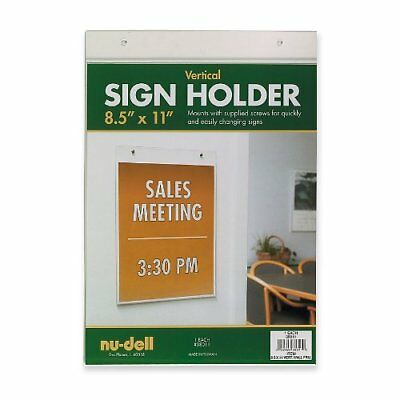 NUDELL 38020 Sign Holder,Freestandng,8-1//2x11,Acrylic