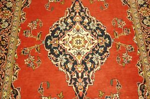 Circa 1930s Antique Detailed Prsian Keshan Rug 3 7x6 10