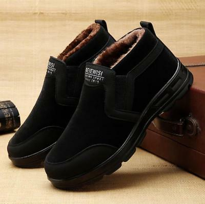 Mens Winter Warm Fur lined thicken zipper ankle Boots casual Snow Shoes #6