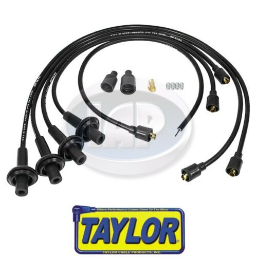 Aircooled VW Bug Ghia Bus AC998033 Taylor 8mm Black Spiro-Pro Ignition Wire Set