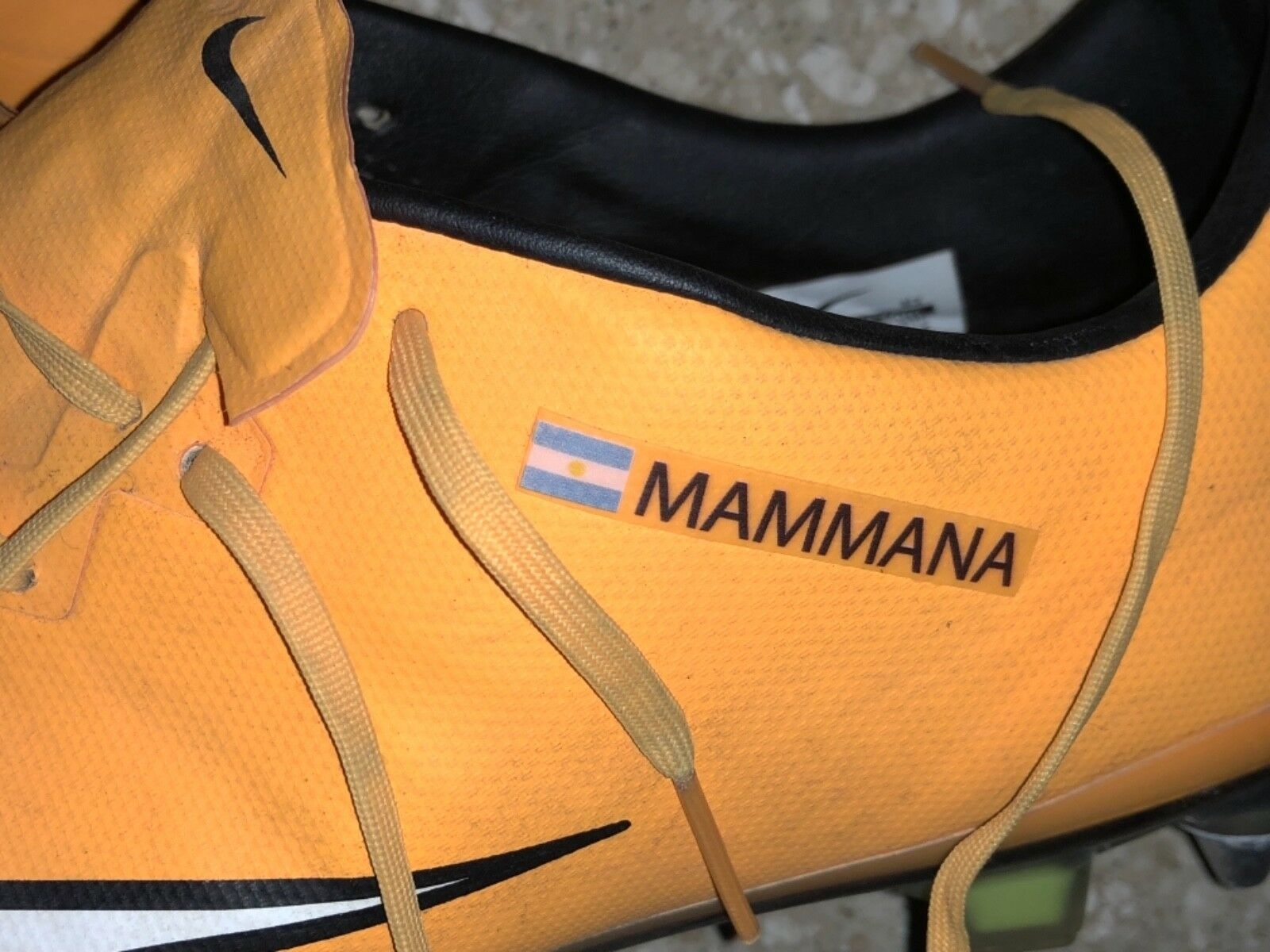botas Mammana plataina Match Worn