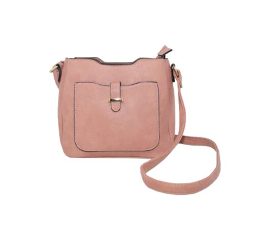 New Women's Synthetic Leather Front Pocket Fashion Crossbody Bag