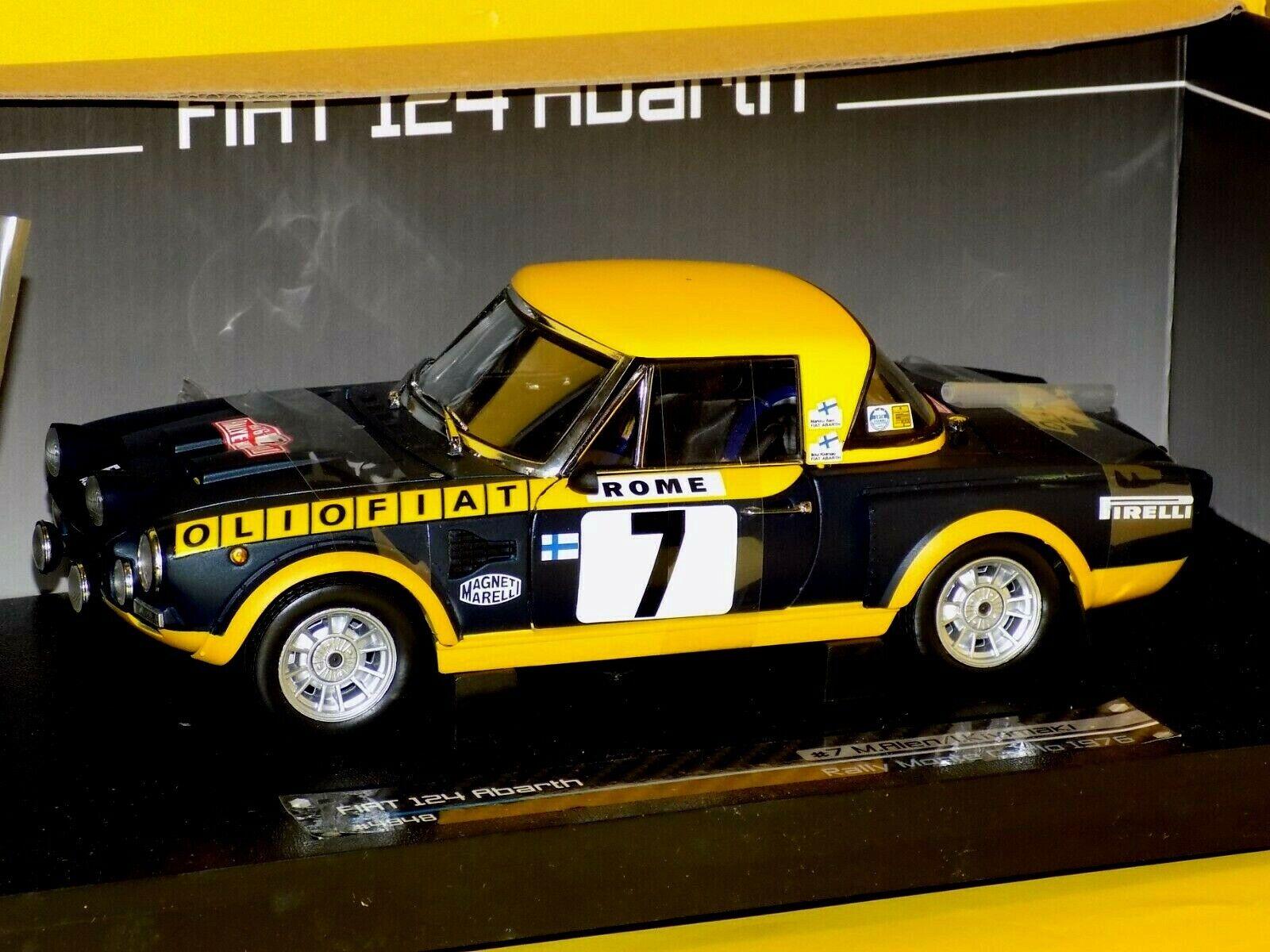 Fiat 124 Abarth  7 M. Alen-I. Kivimaki Monte Carlo 1976 Sun Star 4948 1 18