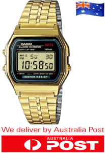 BRAND-NEW-CASIO-A159W-GOLD-DIGITAL-ALARM-GOLDEN-WRIST-WATCH-RETRO-VINTAGE
