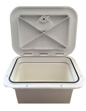 Access Hatch with Storage Box for Caravan/ Boat/RV White Lid storage Box R2333