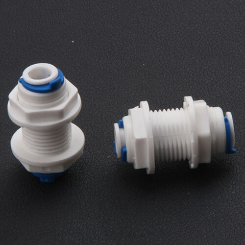 """2//5//10pc LOTTO 1//4/"""" TUBO PARATIA Connettore Fit Collegamento Rapido Per Osmosi Inversa Acqua Reverse"""