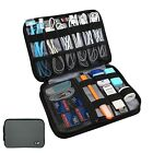 Travel Gear Organizer Bag Double Layer Electronics Accessories Cable Card Holder