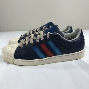 sale uk wholesale price clearance sale Details about Adidas Superstar Shell Toe Trefoil 2012 Navy Red Equipment  NMD Boost Men's 10
