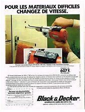 PUBLICITE ADVERTISING  054  1977  BLACK& DECKER   perceuse à percussion