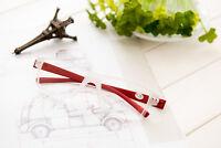 New Square Reading Glasses White & Red +1.00 1.25 1.50 1.75 2.00 2.50 3.00 3.50