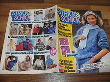 STRICK & SCHICK  10/1984 -- 30 schicke Herbst-Modelle / Anleitung in Größe 34-46