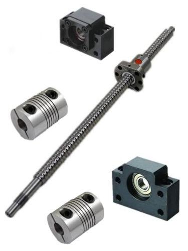 CNC Set ballscrew SFU1204-L100-800mm-C7 /& nut BK//BF10+2pcs BR 6.35x8mm couplers
