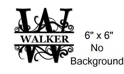 Personalized Initial and Names Decal