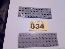 LEGO X 2  LIGHT GREY 4 x 12 THIN  BASE PLATE  3029 VGC