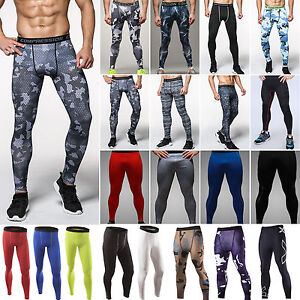 Mens-Athletic-Sports-Gym-Skinny-Trousers-Joggers-Compression-Long-Pants-Legging