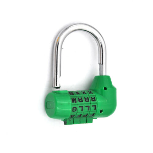 Letter Code Dial Combination Suitcase Luggage Diary Password Lock Padlock FEH