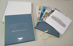 "BENTLEY ""LOOK BEHIND THE SURFACE"" DEALER BROCHURE PHOTO CARD BOX SET"