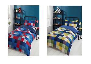 Nouvelle coloré carreaux Simple Ensemble De Couette Parfait Pour Ajouter une couleur à la pièce