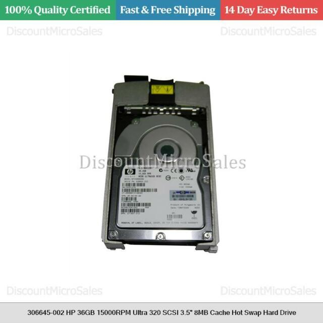 "306645-002 HP 36GB 15000RPM Ultra 320 SCSI 3.5"" 8MB Cache Hot Swap Hard Drive"