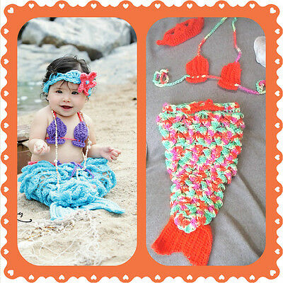 costume prop halloween shower gift, pageant crochet Baby Mermaid Outfit