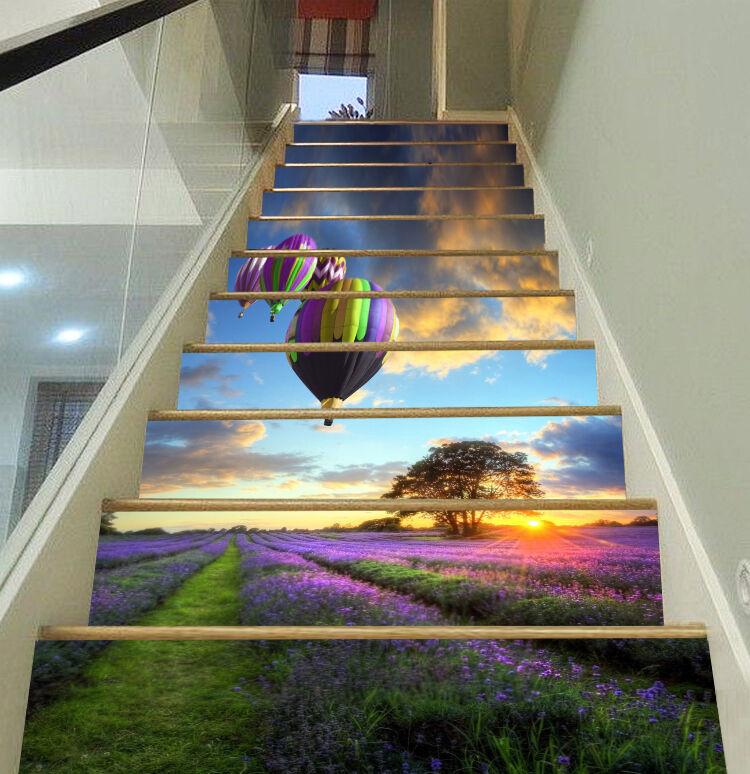 3D balloon sunset flower Risers Decoration Photo Mural Vinyl Decal Wallpaper CA